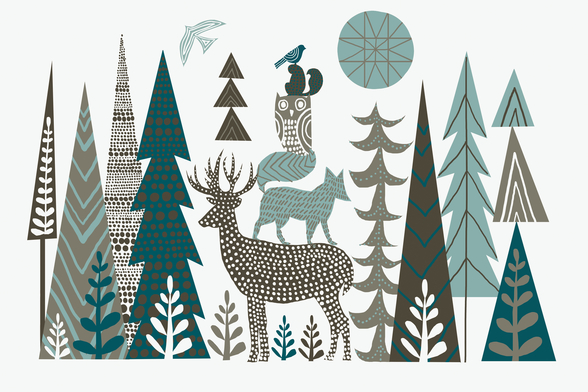 Forest Folklore wall mural