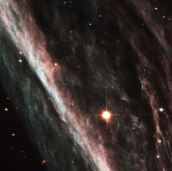 The Pencil Nebula: Remnants of an Exploded Star (NGC 2736) wall mural
