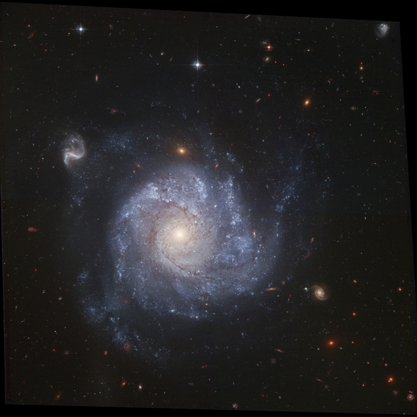 Hubble Snaps Images of a Pinwheel-Shaped Galaxy wallpaper mural