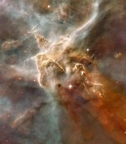 Star-Forming Region in the Carina Nebula: Detail 1 wall mural