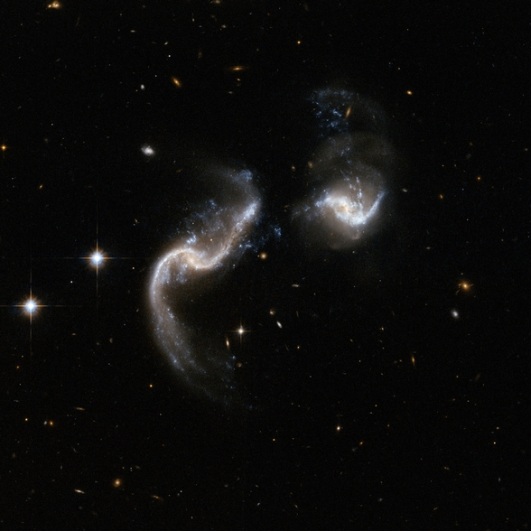 Hubble Interacting Galaxy Arp 256 wall mural