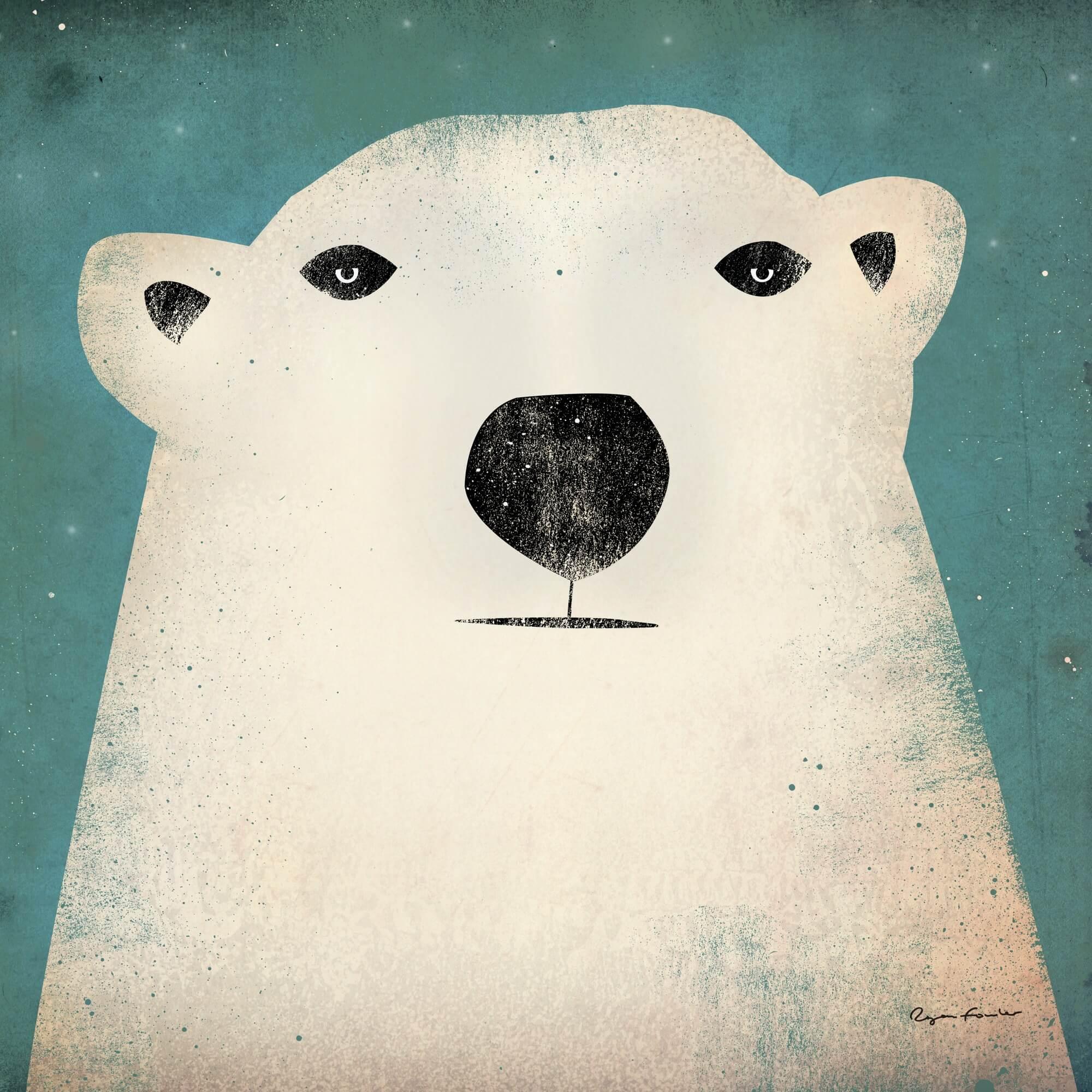 The Polar Bear Wall Mural Wallsauce Uk