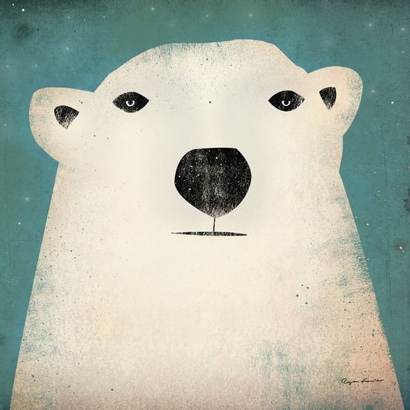 The Polar Bear mural wallpaper