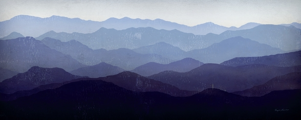 Purple Mountains wall mural