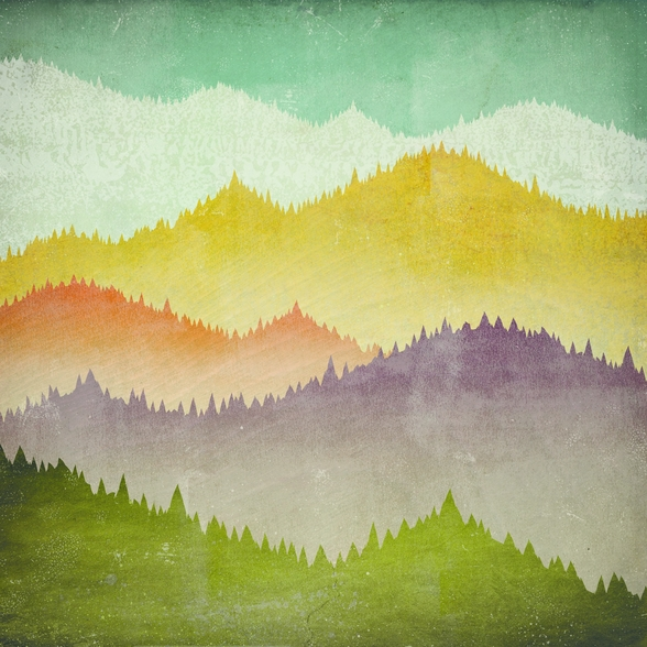 Mountain View mural wallpaper