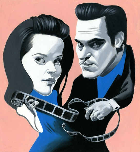 Walk the Line wallpaper mural