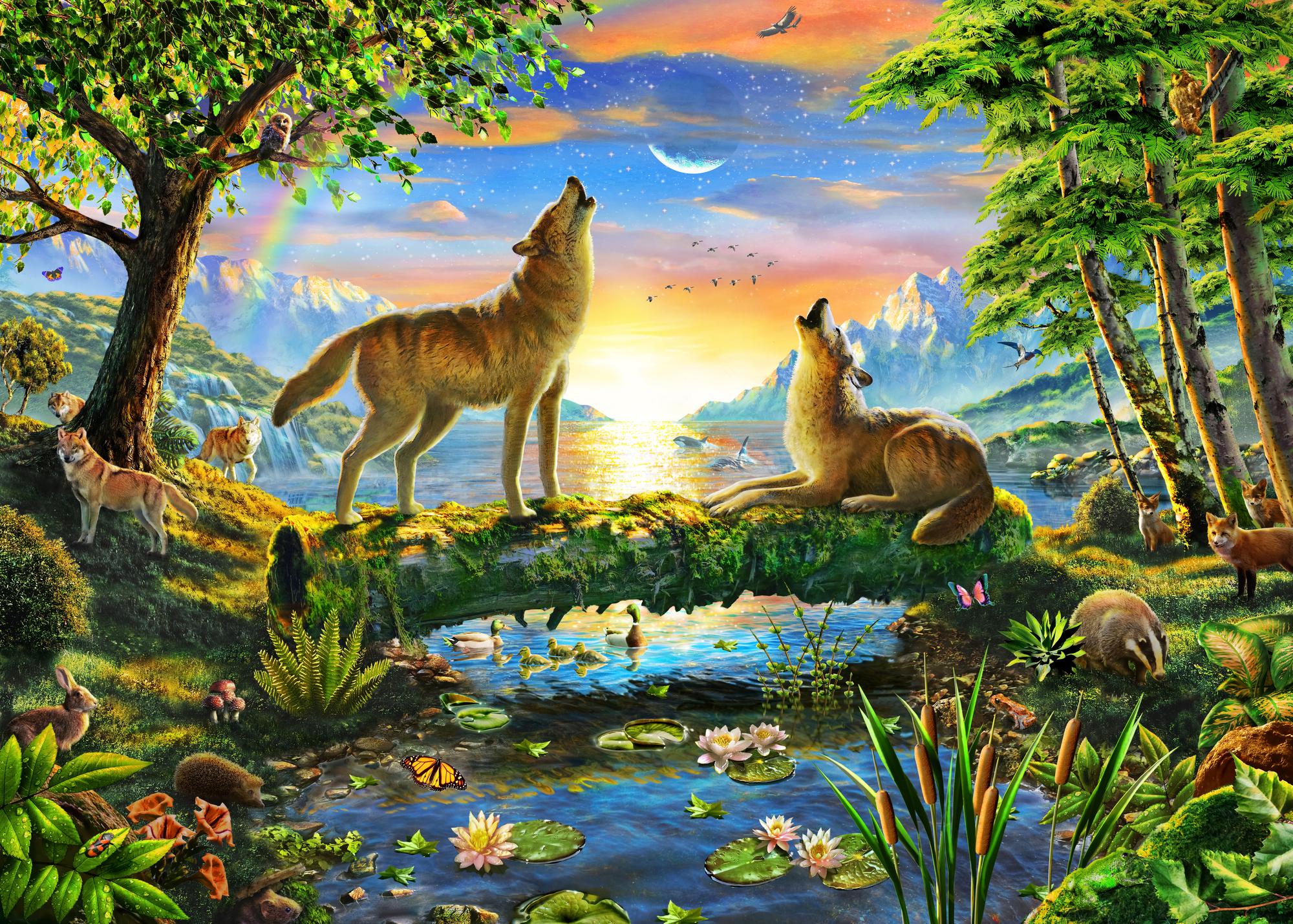 Wolf Harmony Wall Mural