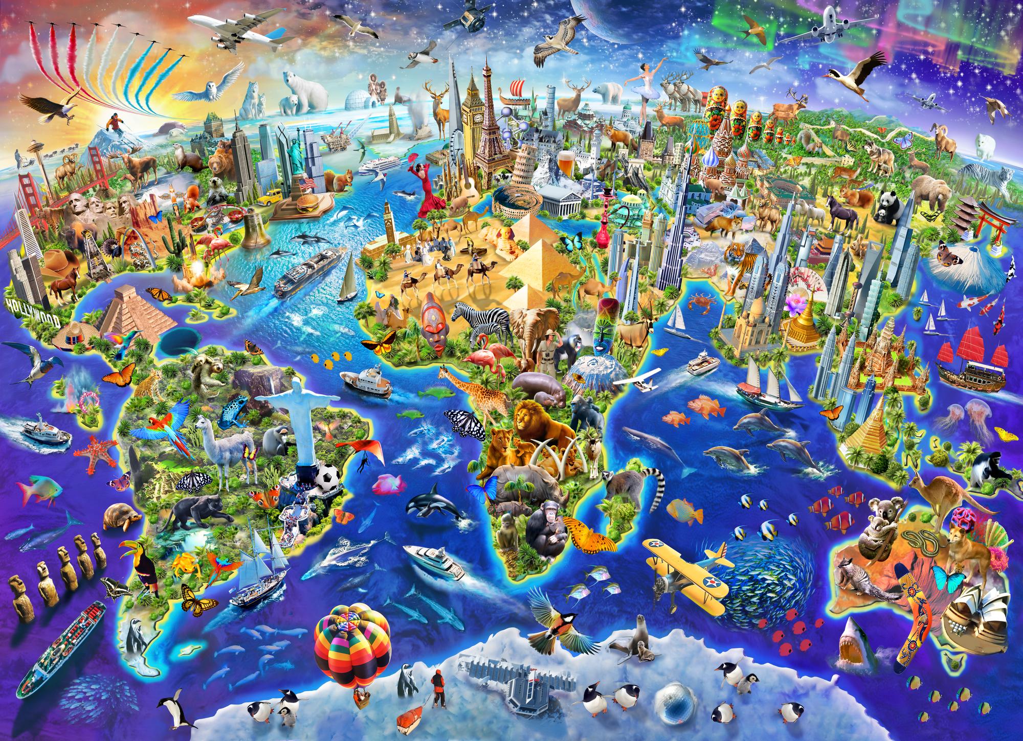 Crazy World Wall Mural