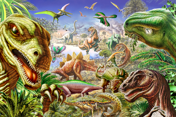 Dinosaurs World wallpaper mural