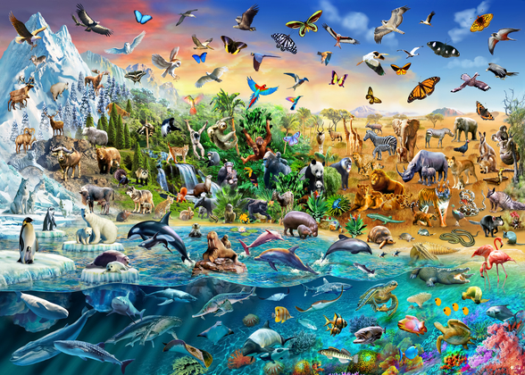 Endangered Species wall mural