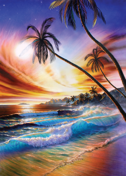 Tropical Beach by Adrian Chesterman mural wallpaper