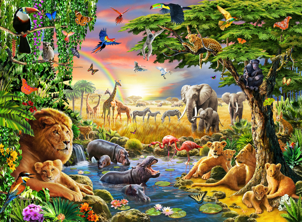 Waterhole wall mural