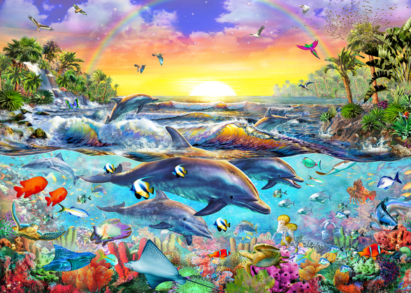 Tropical Cove mural wallpaper