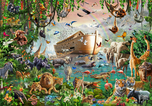 Noah's Ark Jumbo mural wallpaper