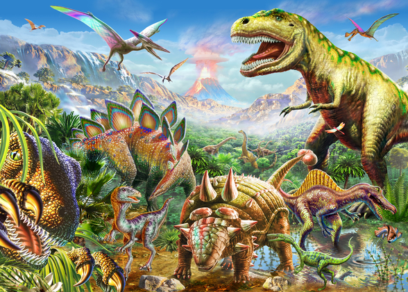 Dino Group wall mural