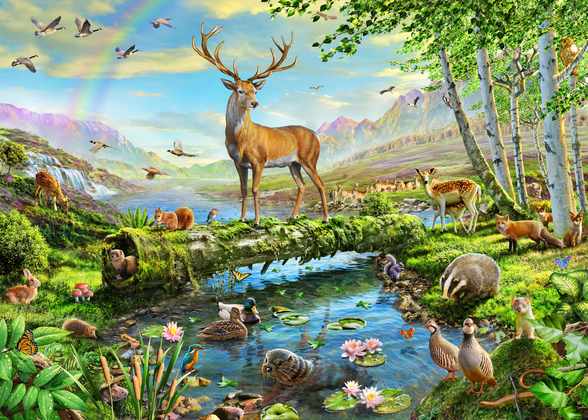 Wildlife Splendor UK wall mural