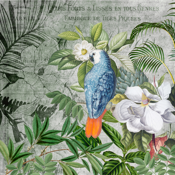Jungle of Birds mural wallpaper