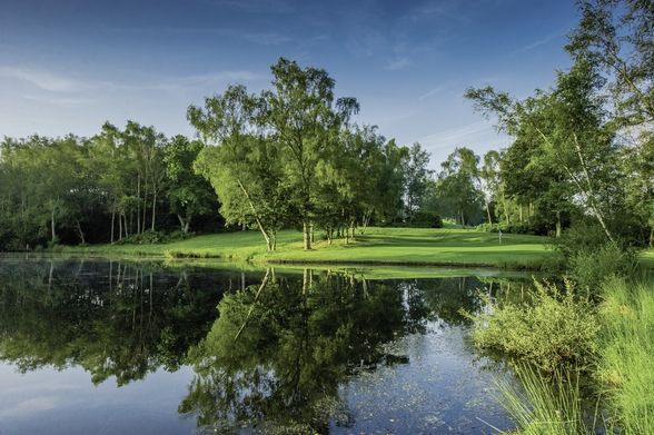 Dawn Across the Lake, Cottesmore Hotel, Golf & Country Club, West Sussex, England wall mural