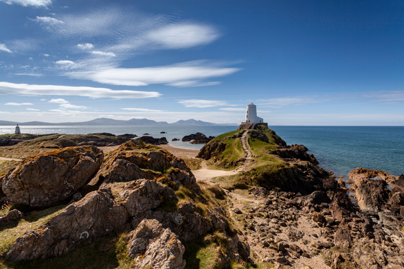 Llanddwyn Island Lighthouse wallpaper mural