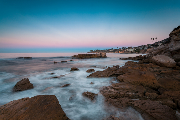 Laguna Beach Pinks mural wallpaper