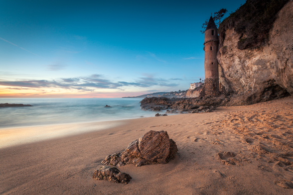 Laguna Beach Pirate Tower mural wallpaper