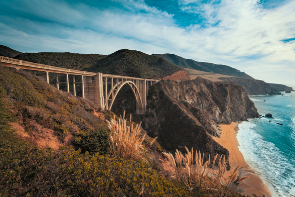California Bixby Bridge wallpaper mural