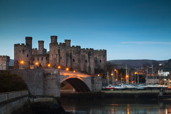 Conwy Castle Sunrise Wales wall mural