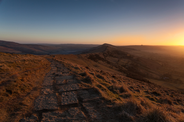 Mam Tor Sunrise wallpaper mural