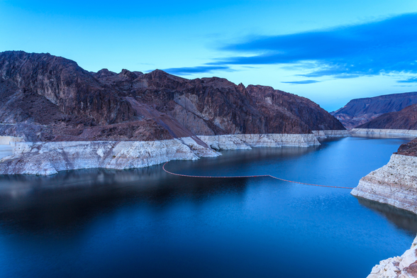 Hoover Dam Blue Hour wallpaper mural