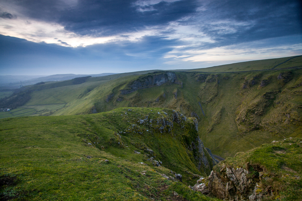 Winnats Pass Sunrise wallpaper mural