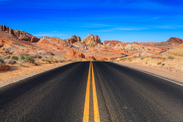 Valley of Fire Road wallpaper mural