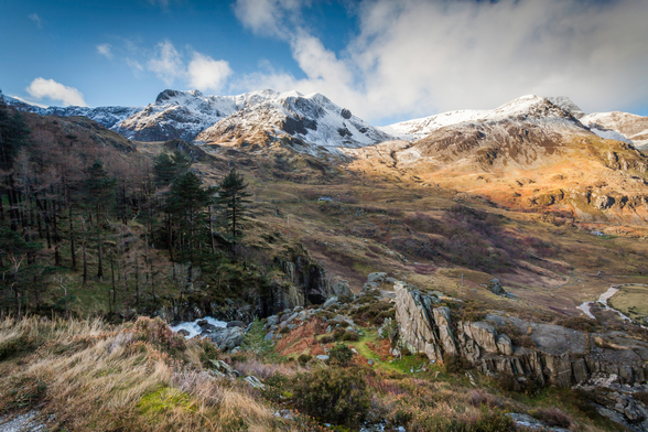 Snow Mountains Snowdonia wallpaper mural