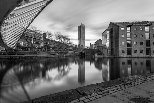 Castlefield Tower Mono mural wallpaper