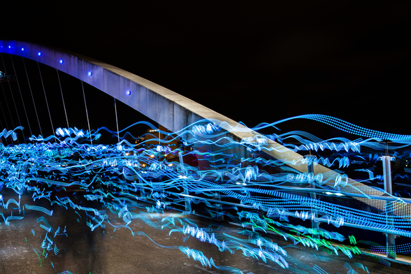 Salford Quays Lightshow wall mural