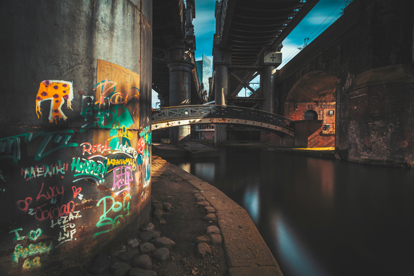 Castlefield Industrial Bridges mural wallpaper