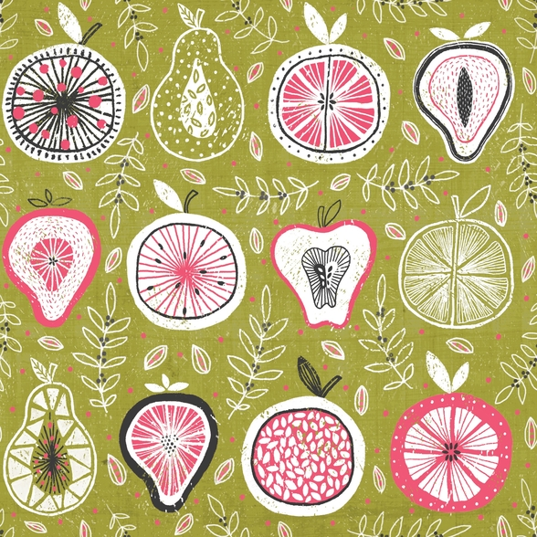 Fruit And Floral mural wallpaper