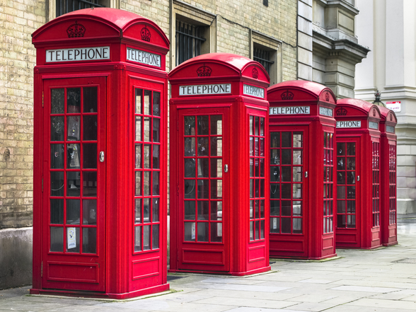 London Telephone Boxes wall mural