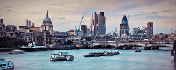 London Skyline Dusk mural wallpaper