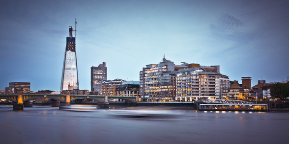 The Shard and the River Thames mural wallpaper