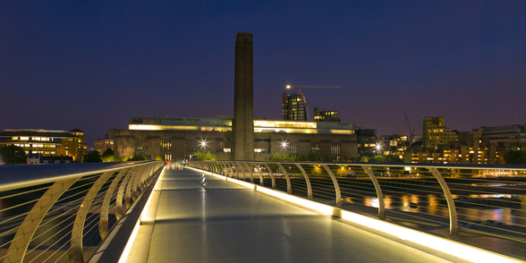 Tate Modern and Millennium Bridge wall mural