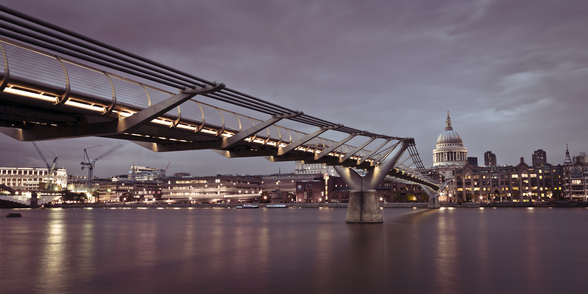 Millenium Bridge Panoramic mural wallpaper