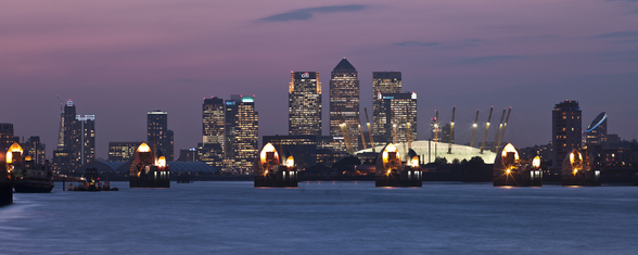 Canary Wharf Skyline mural wallpaper