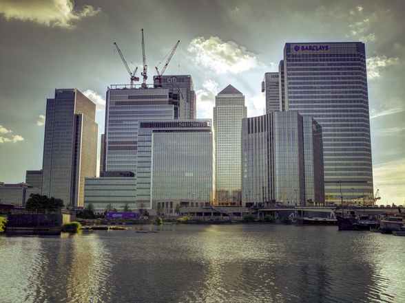 Canary Wharf mural wallpaper