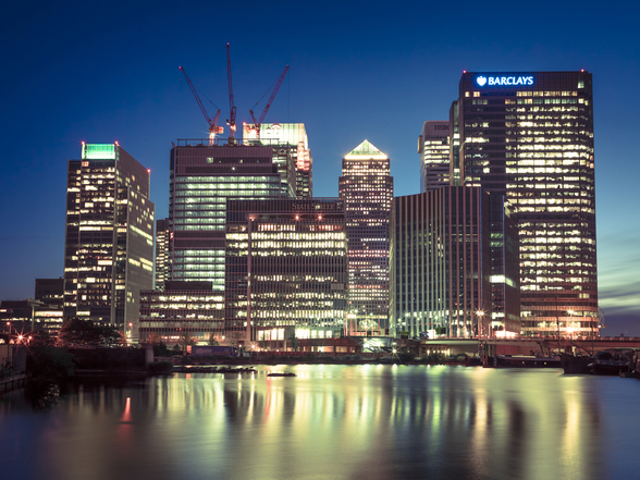 Canary Wharf Night Lights wallpaper mural