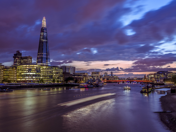 The Shard at Night wallpaper mural