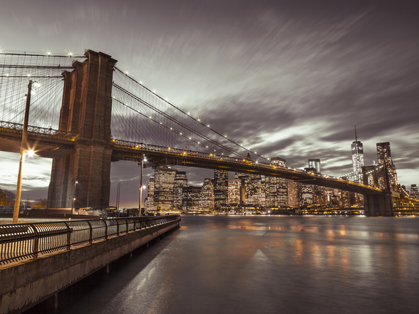 Brooklyn Bridge Skyline Cityscape wallpaper mural