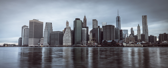 Lower Manhattan Murky Morning mural wallpaper