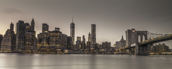Moody Manhattan Skyline wall mural