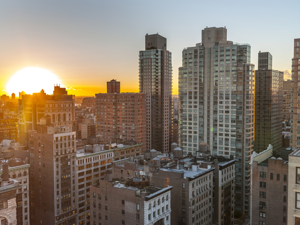 New York Sunset mural wallpaper