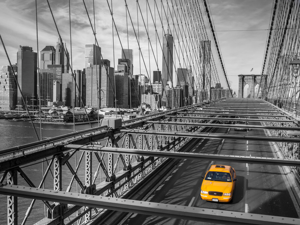 Daylight on Brooklyn Bridge Colour Splash mural wallpaper